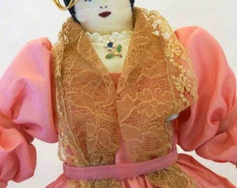 Pink Lady Cloth doll from the 1960s