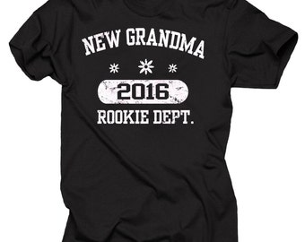 New Grandma 2016 T-Shirt Gift For Grandmother Tee Shirt Family T-Shirt