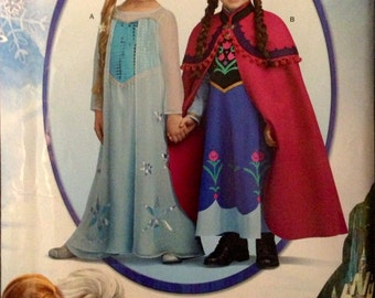 Simplicity W0733 or 1233 - Child's Frozen Let It Go Else Dress and Anna's Winter Dress Costumes - Size 3-8