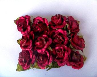 Pack of 12 baby velvet roses. velvet roses. miss rose sister violet roses. craft roses. small roses. velvet  rose. millinery flowers
