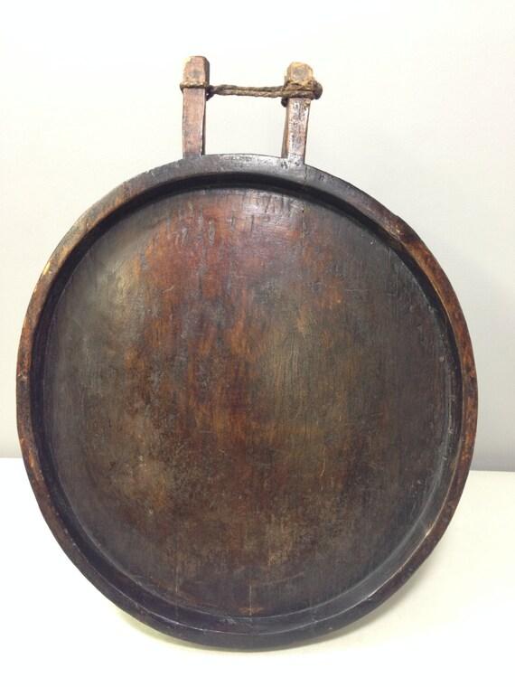 African Ethiopia Gurage Tribe Wood Coffee Table Handmade