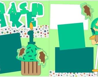 """Scrapbook 2 Page Kit """"Smash Cake Boy"""""""