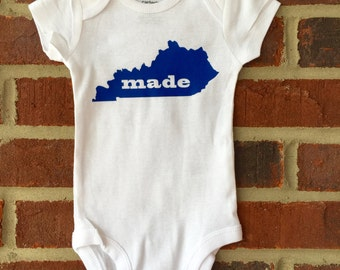 Kentucky Baby / Made in Kentucky Bodysuit / Kentucky Made / Made in KY / Ky Baby / Baby Shower gift / Photo Prop