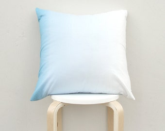 Blue gradation pillow cover, 18x18 gradient cushion