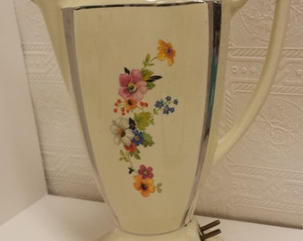 Unique Porcelain ELECTRIC Coffee Pot; Beautiful Display Piece and Very Unusual