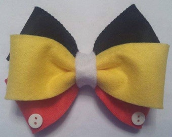 Disney, Mickey Mouse Inspired Hair Bow