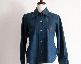 Vintage Blouse // Jacket // Denim // 70s