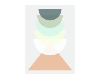 Geometric Design Poster - Instant Download - just print, frame and hang in your favorite spot in the house.