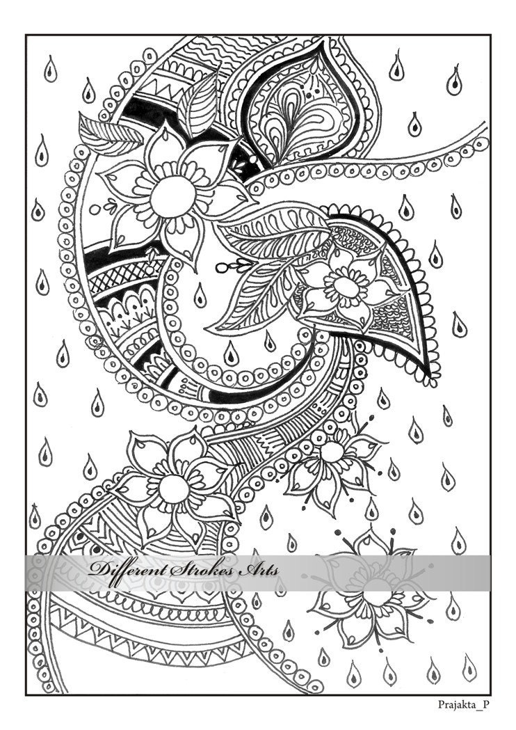 adult coloring pages henna art