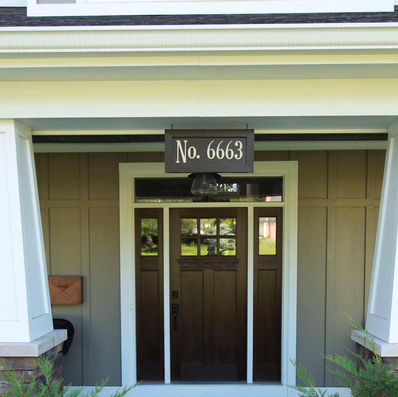 craftsman arts and crafts vintage house numbers. Black Bedroom Furniture Sets. Home Design Ideas