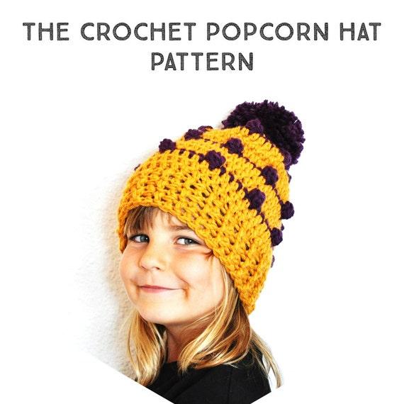 Crochet Hat Patterns Step By Step : Crochet Pattern Popcorn Slouchy Beanie Hat Step by Step