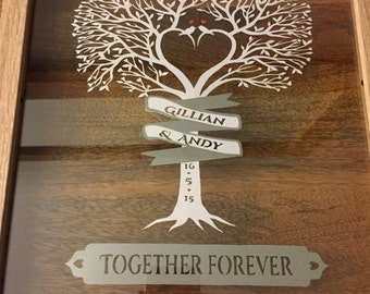 personalised wedding tree unique wedding gift personalised wedding ...