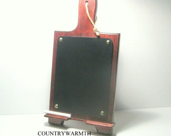 Wood iPad Stand, Tablet Stand, Chalkboard, Kitchen Decor, Country Home Decor, Home Decor, Country Kitchen Decor, Docking Station