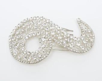 Bridal Hair Accessories, Crystal Hair Comb, Hair Pin, Wedding Hair Accessories, Rachna Crystal Bridal Hair Comb