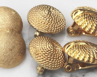 One Style Remaining of Gold Button Lever Back Earrings