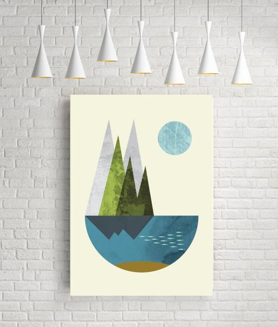 Abstract art geometric art nordic design art print modern for Modern art home decor etsy