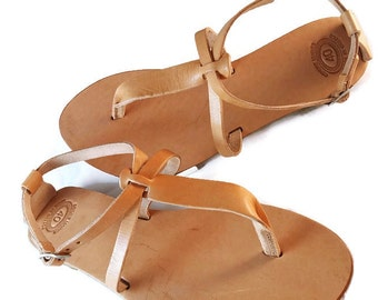 Thong Sandals - Greek Sandals - Leather Flip Flop Sandals. Summer Flats. Handmade in Greece.