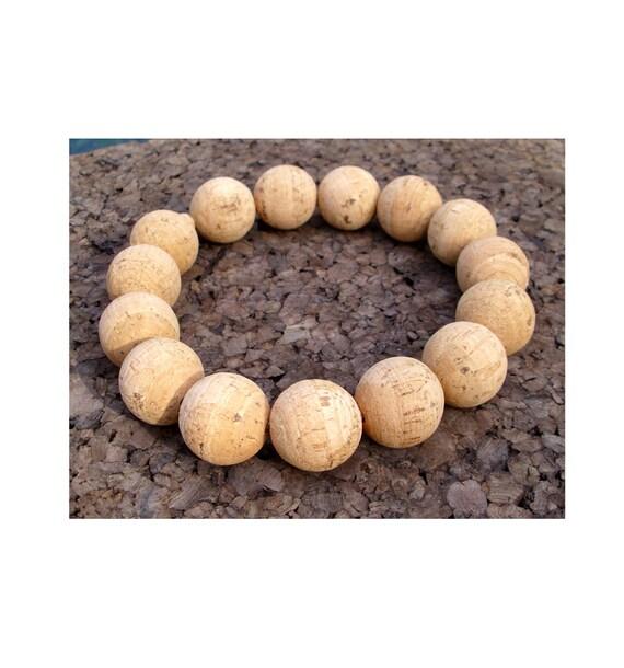 Cork Beads: Trivet Made Of Natural Cork Beads 2 Sizes