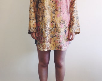 Vintage Marbled Silk Tunic