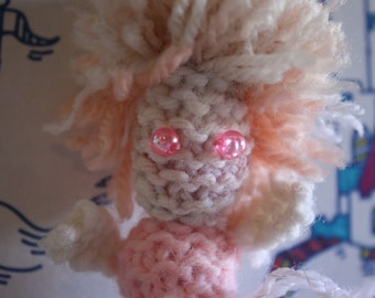 Amigurumi Pink and White Ghost Doll