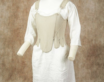 18th Century Colonial Style Women's Stays (Corset) of Linen - Made to Measure