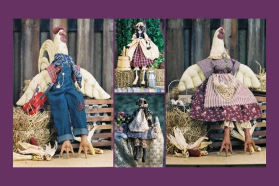 Cloth Doll E-Pattern Group of Beautiful Farm Animal epatterns