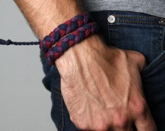 Wrap Bracelet, Bracelet for Men, Mens, For Boyfriend, For Him, Gift for Him, For Men, For Husband, Husband, Boyfriend, Man Gifts, Hipster