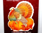 Vintage Thanksgiving Honeycomb, Honeycomb Turkey, Forget Me Not by American Greetings, 2 Thanksgiving Decorations, Unopened