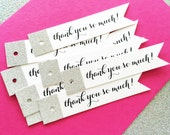 Silver Glitter Wedding Favor Tags, Glitter Tags, Favor Tags, Penant Tags, Gift Tags, Favor Bag Tags