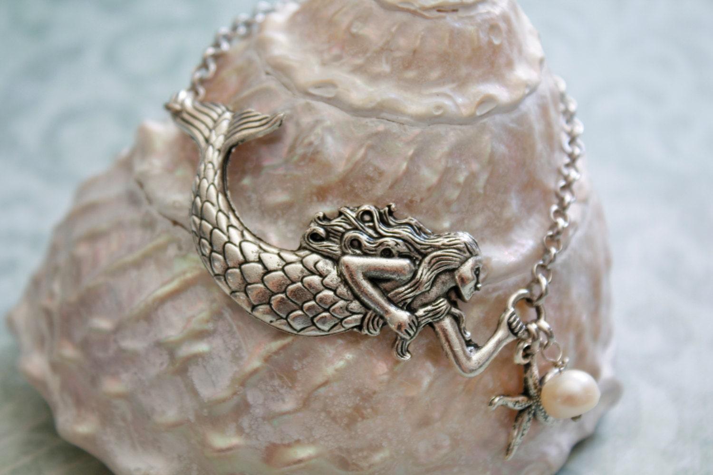 mermaid bracelet silver mermaid bracelet blue mountain jade. Black Bedroom Furniture Sets. Home Design Ideas