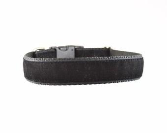 Black Velvet Dog Collar, Velvet Collar, Wedding Dog Collar, Velvet Dog Collar, Dressy Dog Collar