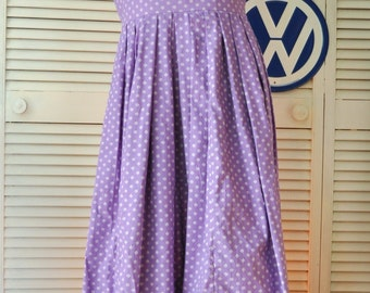 Vintage Austrian Womens Costume Dress/Sound of Music/Dirndl/European Full Length Isola Erzeugnis Osterreich Theater Folk Wench Medium Purple