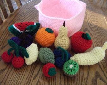 Crochet Basket of Fruit, Made to Order