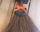 "Rustic Halloween Broom Witch, Wall Decor, Black or Orange Broom Witch, 13"" Wall Art, Halloween Witch, Spooky Decor, Witch SnowNoseCrafts"