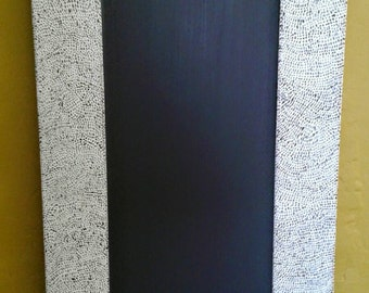 Handpainted Chalkboard - Large Chalkboard - Message Board - Rustic Home UK - Kitchen Blackboard - Dotty Chalkboard - Spotty Chalkboards
