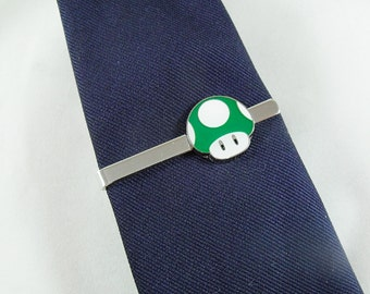 Tie Clip,  Mario Brothers Dark Green One Up Mens Accessories