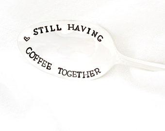 Coffee Spoon, Still Having Coffee Together. Stamped Silverware by Milk & Honey.