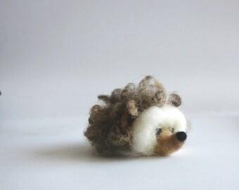 Felted Hedgehog. Needle felted Hedgehog with a flower