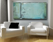Abstract Painting Abstract Art Original Painting Large Acrylic Fine Art Blue painting contemporary art 24 x 48 on canvas by Cheryl Wasilow