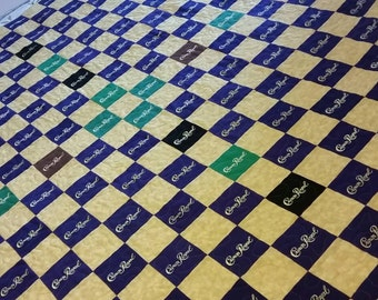 Crown Royal Quilt Made from Your Collection of Crown Royal Bags Let Me Design a Custom Quilt Out of Your Unique Collection Great Guy Gift