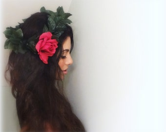 Floral Crown, Boho Flower Crown, Flower Headpiece