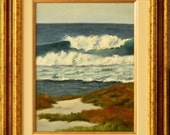 Asilomar Pacific Grove - plein air seascape 9x12 original oil painting framed