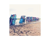Cadillac Ranch / Texas  / art / Photography Print / typography / travel / sizing options 4x4, 5x5 or 8x10