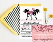 Flamingo baby shower Invitation (digital file)
