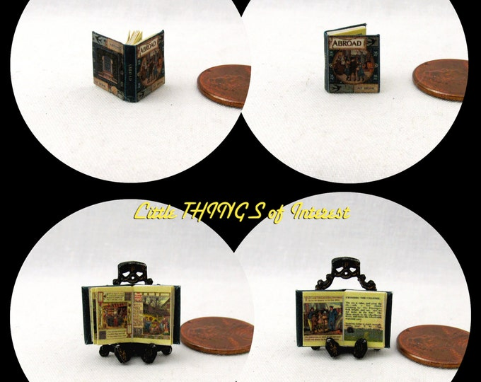 1:24 Scale Book ABROAD Miniature Book Dollhouse Illustrated CHILDREN'S Book