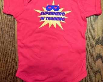 Superhero in training infant bodysuit
