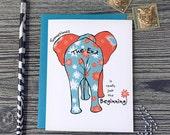 Retirement Card, Congratulations on Retirement Card, Retirement Messages, Retirement Wishes, Funny Elephant Art