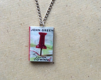 Paper Towns Miniature Book Necklace