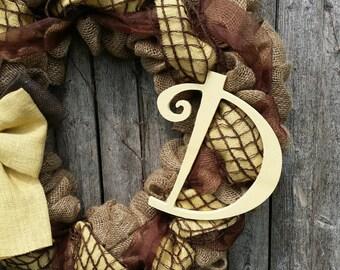 Personalized Monogram Add on to Any Wreath, Monogram Wreath