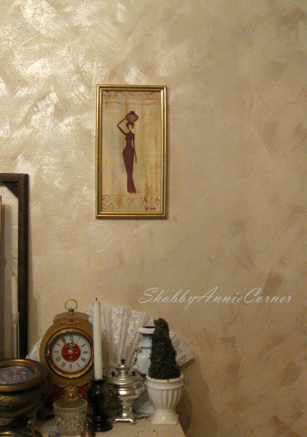 African Wall Art African Painting African Wall Decor Cream